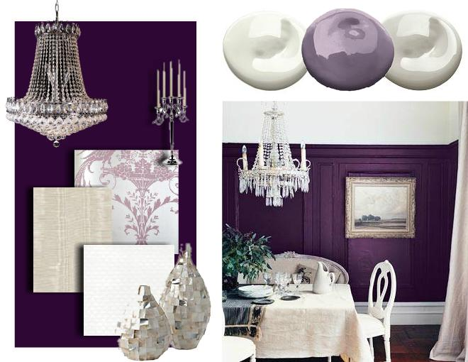 purple interior design mood board 1