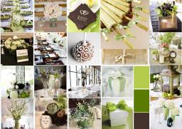 lime green wedding decor details created on sampleboard.com