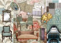 art nouveau style created on sampleboard.com