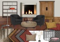 cosy living room created on sampleboard.com