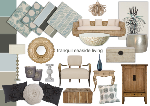 beach house interior design mood board