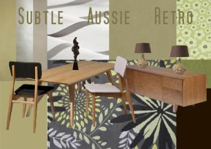board-screen Aussie Retro Interior Design