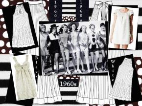 board-screen 1960s Black and White fashion