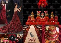 board-screen Bold red drama wedding