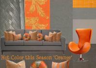 board-screen Hot Orange Interior Design