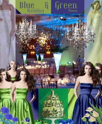 board-screen Vibrant Blue and Green Wedding Colour Scheme