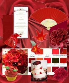 board-screen Wedding Color Board Red