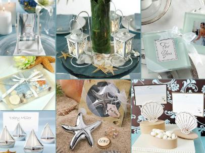 board-screen Beach style wedding favors
