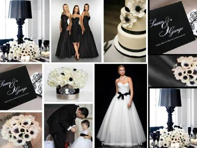 board-screen Black and White Wedding scene