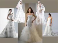board-screen Mermaid style wedding gowns