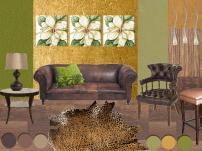 board-screen Botanical inspired design