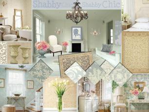 board-screen Shabby Chic Blue