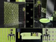 board-screen Trendy green bathroom