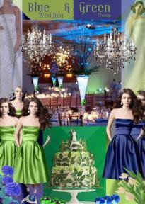 board-screen Blue and Green Wedding theme