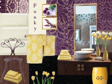 board-screen Violet Bathroom