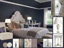 board-screen Blue bedroom
