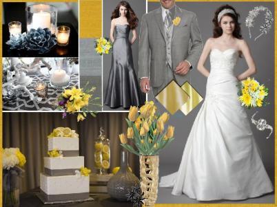 board-screen Grey and Yellow Wedding