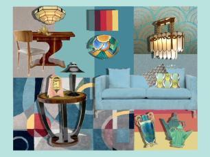 board-screen Art Deco Aqua