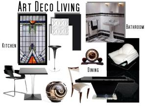 board-screen Art Deco Black and White