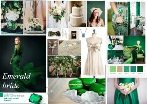 emerald wedding planning inspiration board