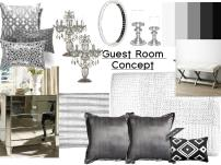 Monochrome mood board created on www.sampleboard.com