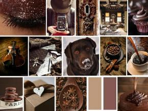 chocolate brown mood board