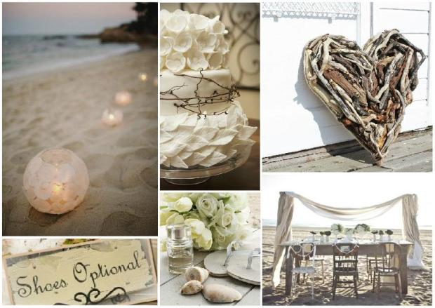 beach wedding inspiration mood board