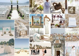 beach wedding inspiration board