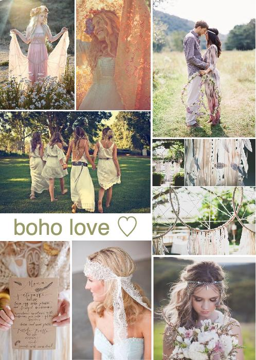 boho wedding inspiration board