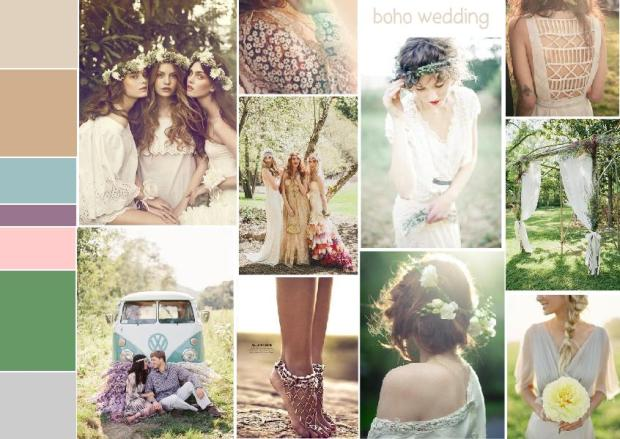 boho wedding inspiration mood board 1