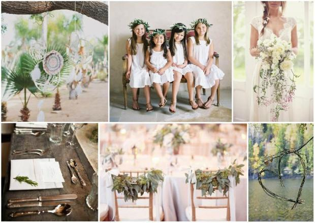boho wedding inspiration mood board