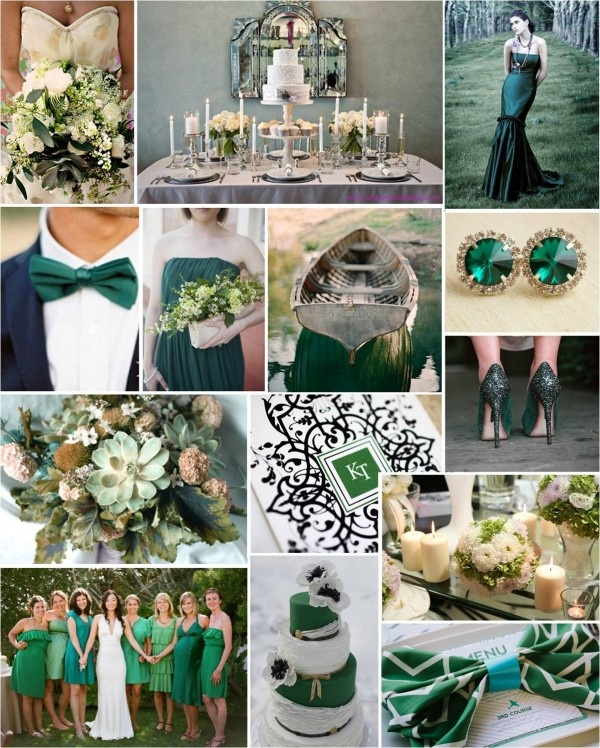 emerald wedding inspiration board 1