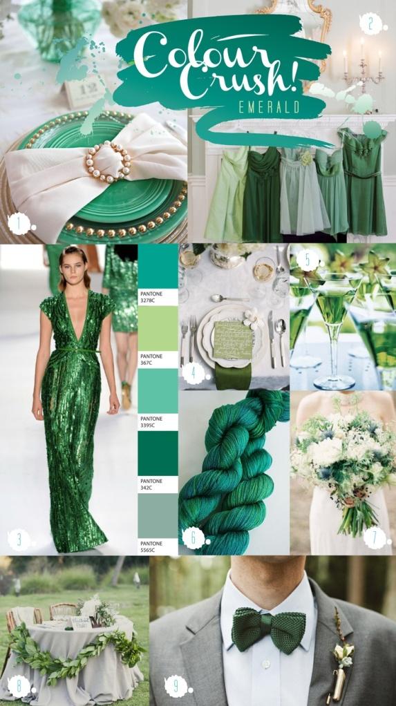 emerald wedding inspiration board 2