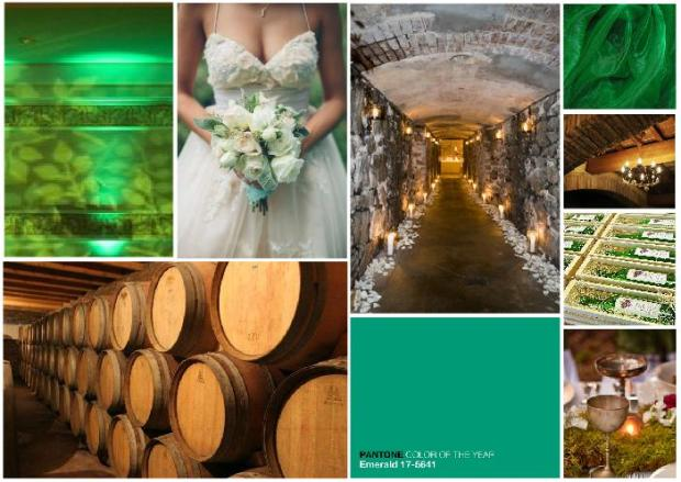 emerald wedding inspiration board