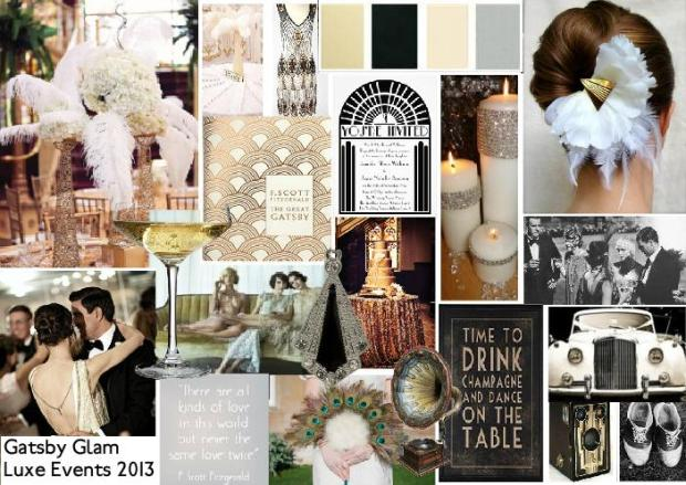 great gatsby wedding inspiration mood board 1