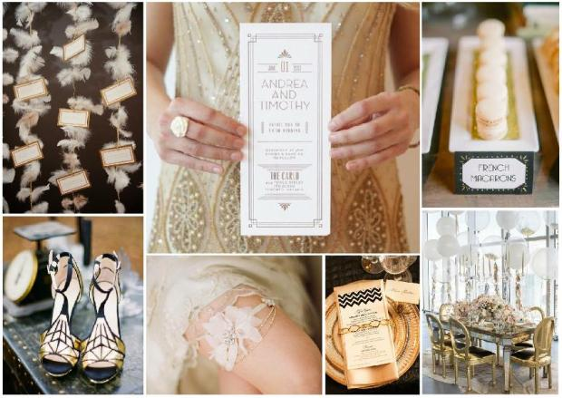 great gatsby wedding inspiration mood board