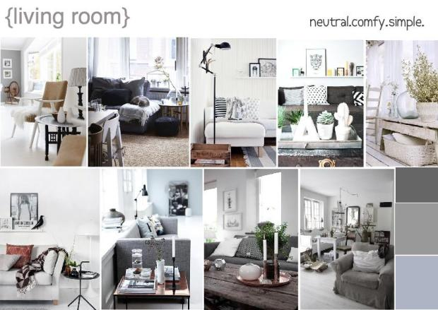 Living room the official blog of for Modern living room mood board