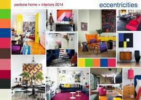 pantone color trend interior design mood board eccentricities
