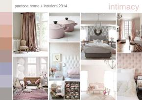 pantone intimacy color trend mood board