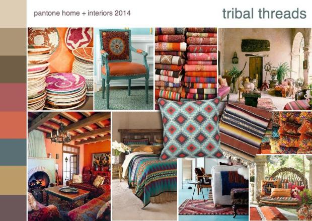 pantone tribal threads color forecast mood board