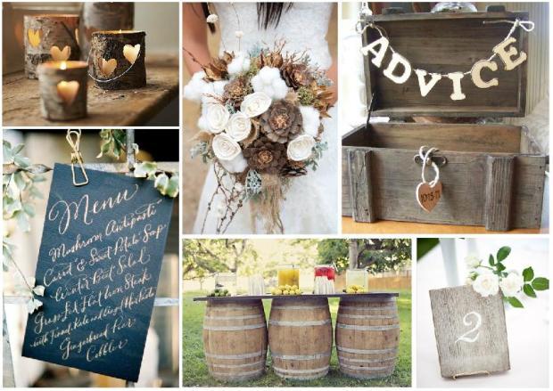 rustic wedding inspiration mood board