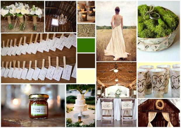 rustic wedding inspiration board