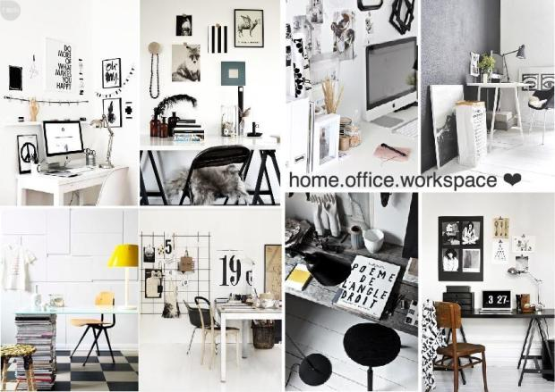 scandinavian home office workspace mood board