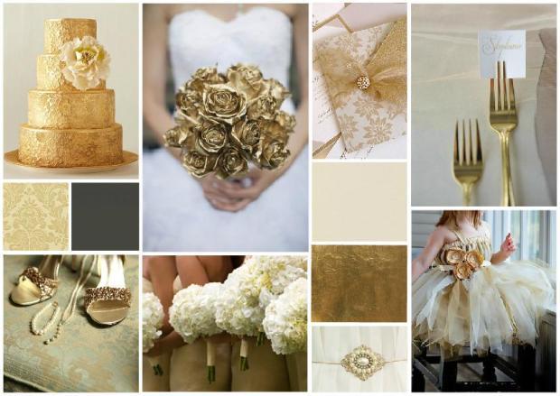 vintage gold wedding