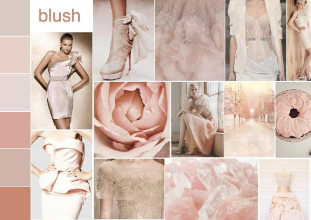 color blush mood board