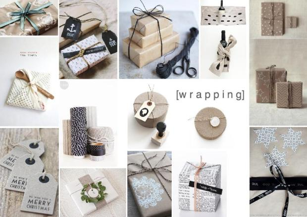 decor wrapping packinging mood board design