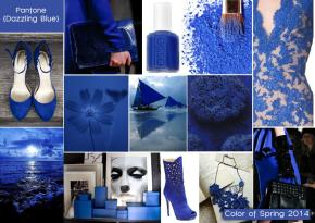 Pantone color of spring 2014 dazzling blue mood board