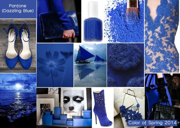 Pantone color of spring 2014 dazzling blue mood board