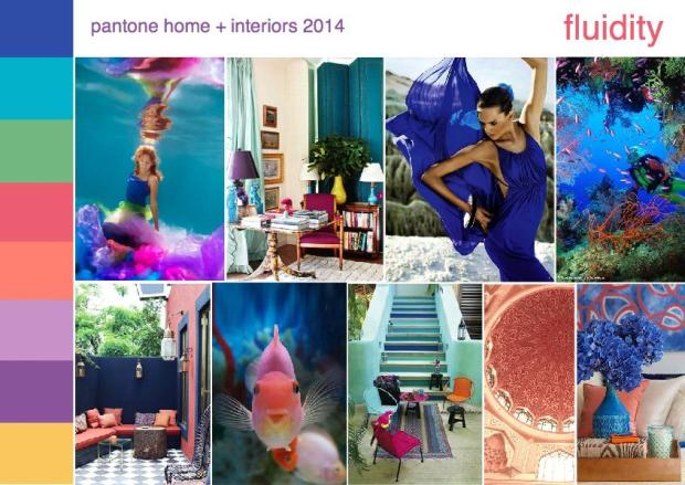 pantone color trend fluidity interior design mood board 1