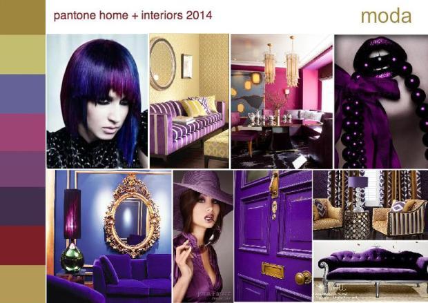 pantone moda color trend interior design mood board 1